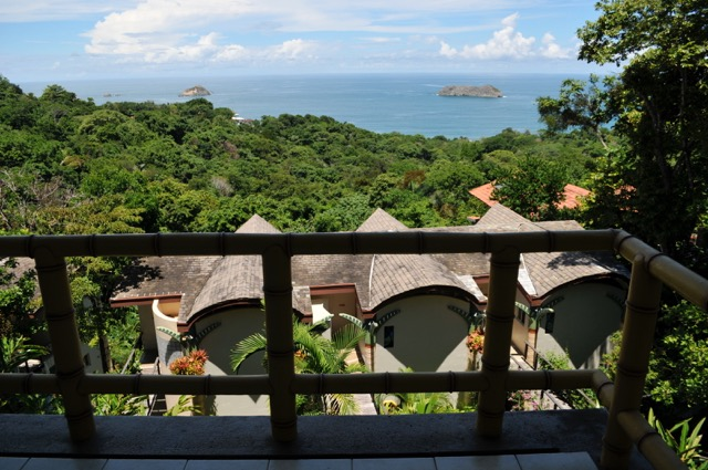 view from hotel room at si como no resort in costa rica