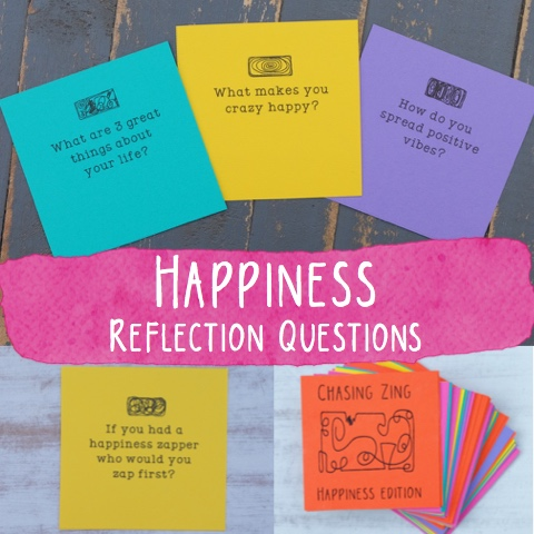 Chasing Zing Happiness Reflection Cards sample images