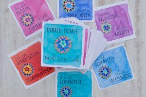 inhale exhale mindfulness cards